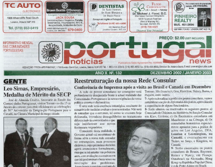 PORTUGAL NEWS: Dec–Jan 2002–3 Issue 132