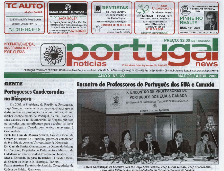 PORTUGAL NEWS: Mar–Apr 2002 Issue 123