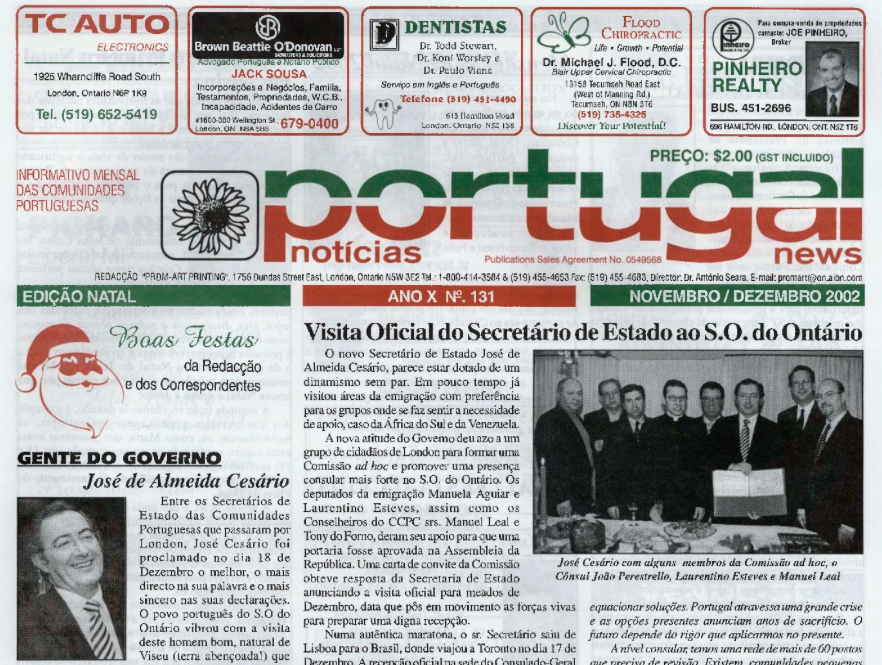 PORTUGAL NEWS: Nov–Dec 2002 Issue 131