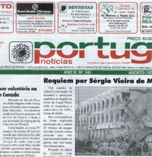 PORTUGAL NEWS: Aug–Sept 2003 Issue 140