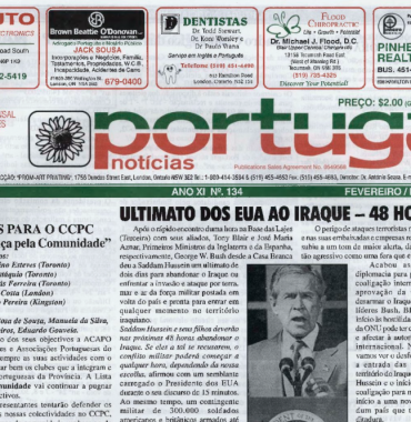 PORTUGAL NEWS: Feb–Mar 2003 Issue 134