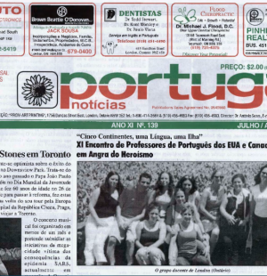 PORTUGAL NEWS: Jul–Aug 2003 Issue 139