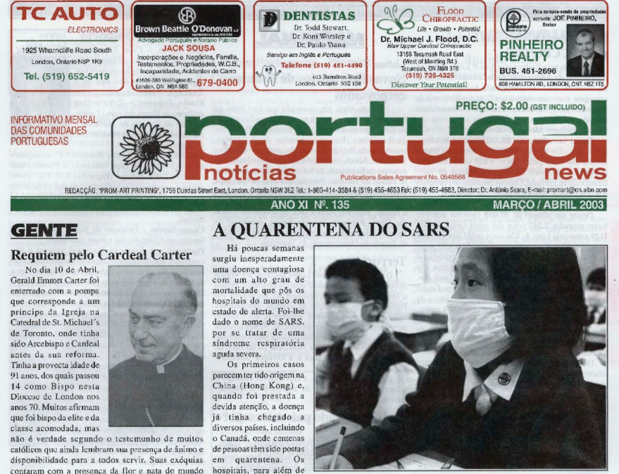 PORTUGAL NEWS: Mar–Apr 2003 Issue 135