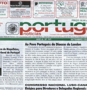 PORTUGAL NEWS: Sept–Oct 2003 Issue 141