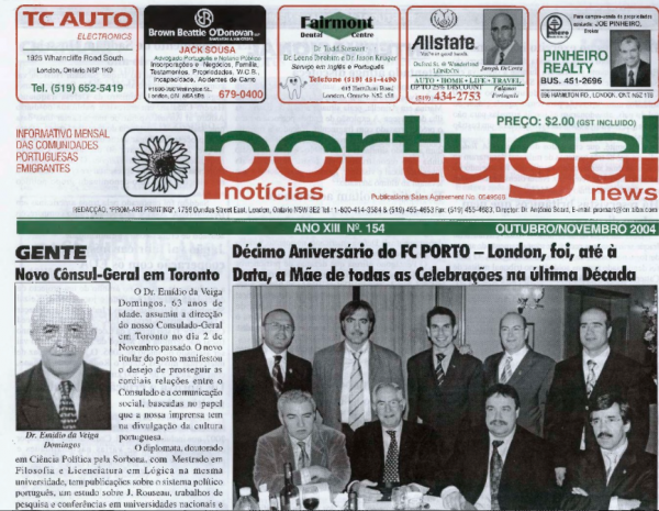 PORTUGAL NEWS: Oct–Nov 2004 Issue 154