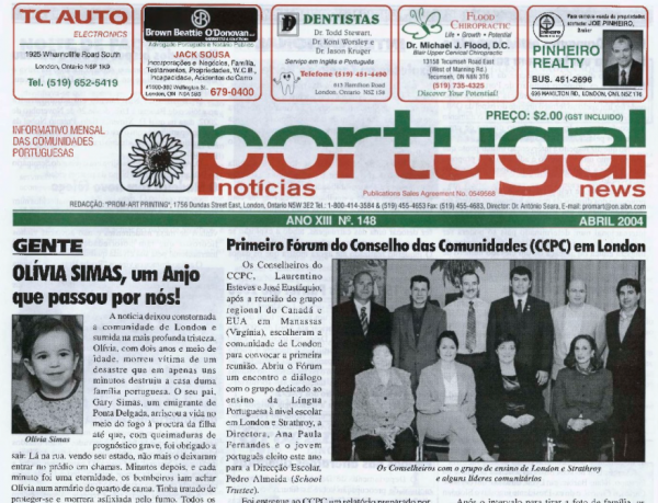 PORTUGAL NEWS: Apr 2004 Issue 148