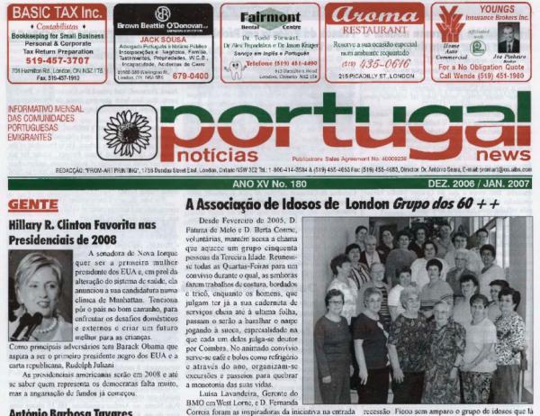 PORTUGAL NEWS: Dec–Jan 2006–7 Issue 180