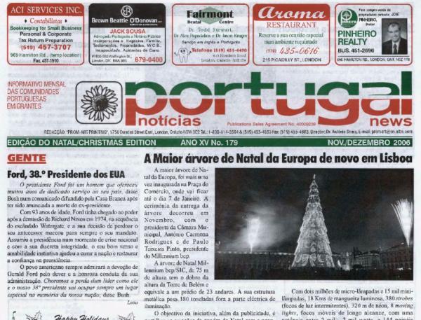 PORTUGAL NEWS: Nov–Dec 2006 Issue 179