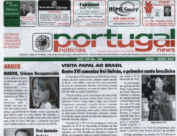 PORTUGAL NEWS: Apr–May 2007 Issue 184