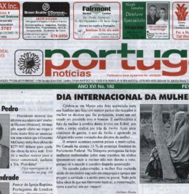 PORTUGAL NEWS: Feb–Mar 2007 Issue 182