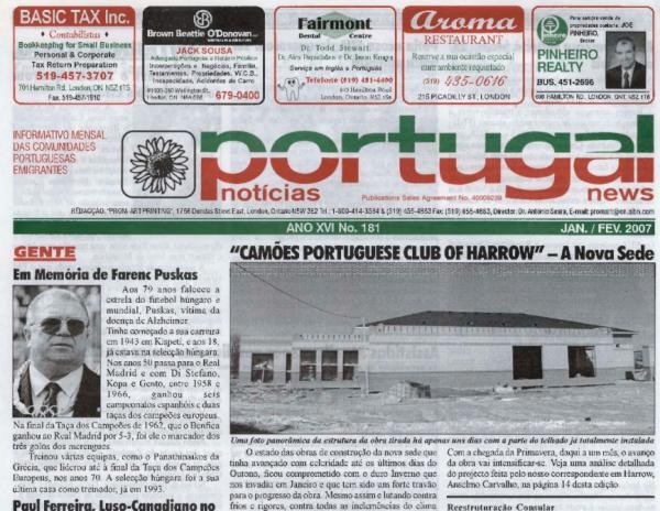 PORTUGAL NEWS: Jan–Feb 2007 Issue 181