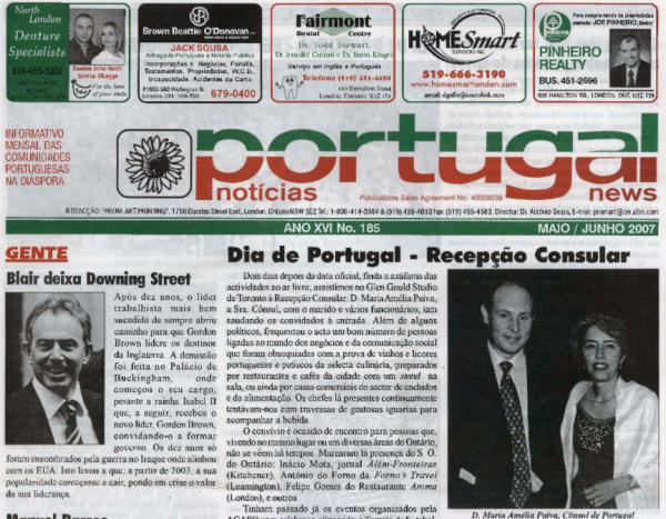 PORTUGAL NEWS: May–Jun 2007 Issue 185