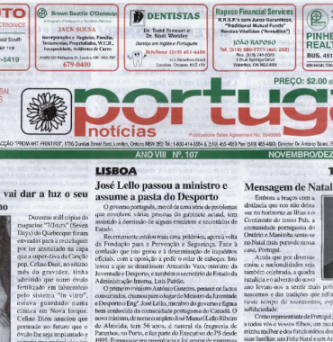 PORTUGAL NEWS: Nov–Dec 2000 Issue 107