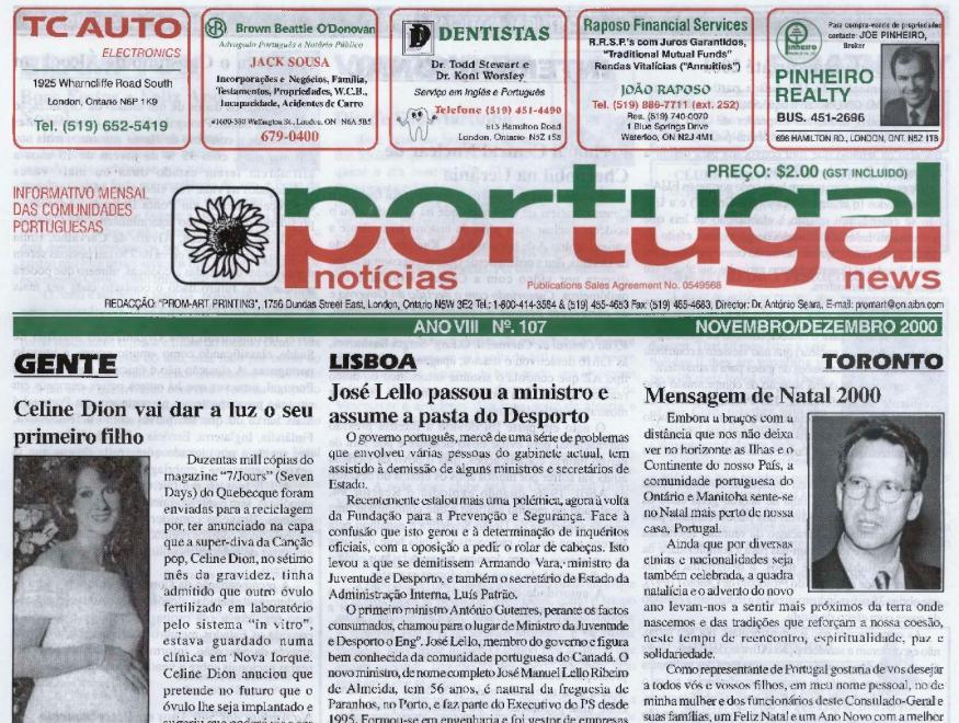PORTUGAL NEWS: Nov–Dec 2000 Issue 107