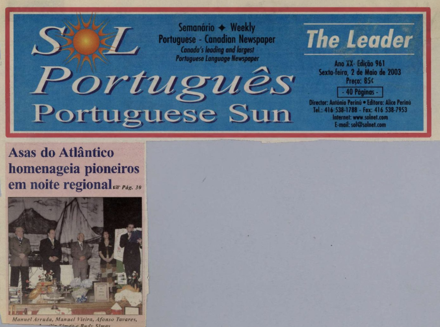 SOL PORTUGUES: 2003/05/02 Issue 961