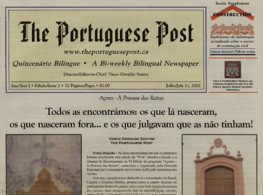 THE PORTUGUESE POST: 2002/07/11 Issue 3