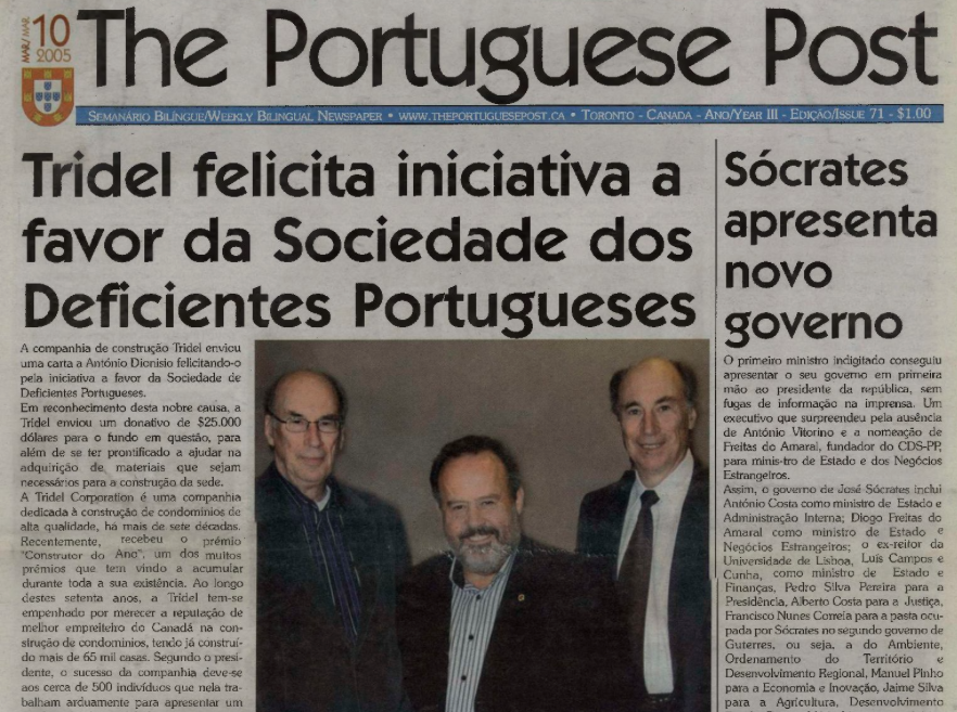THE PORTUGUESE POST: 2005/03/10 Issue 71