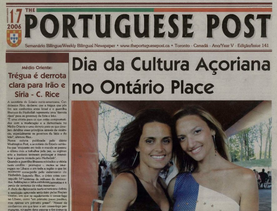 THE PORTUGUESE POST: 2006/08/17 Issue 141