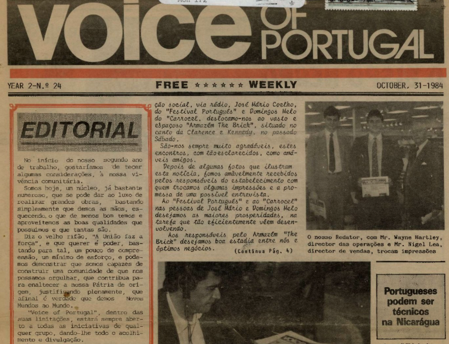 VOICE OF PORTUGAL: 1984/10/31 Issue 24