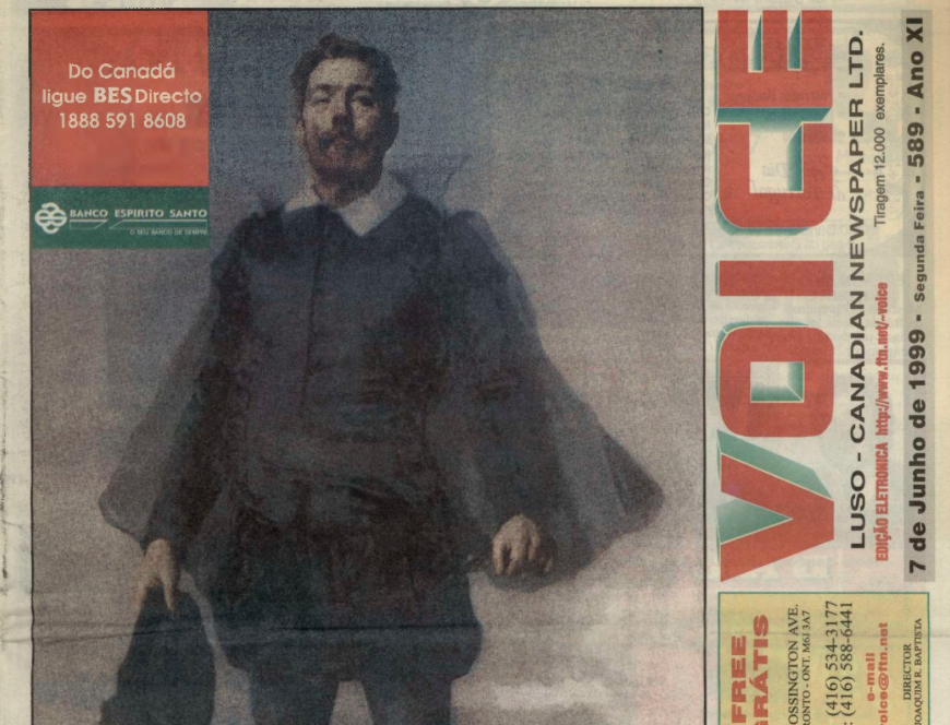 VOICE OF PORTUGAL: 1999/06/07 Issue 589