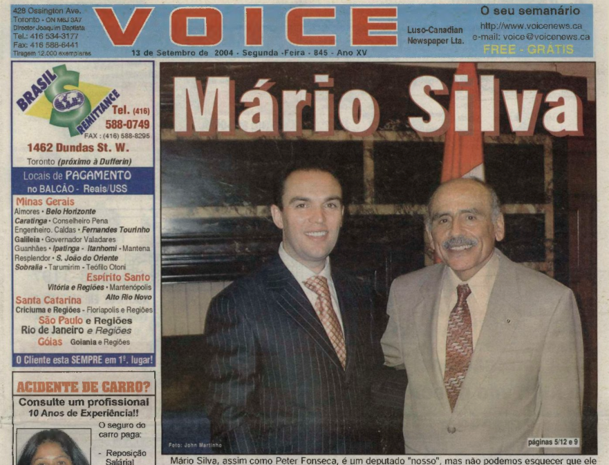 VOICE OF PORTUGAL: 2004/09/13 Issue 845