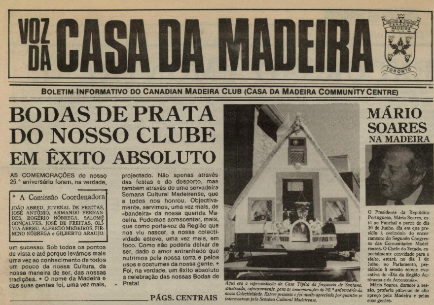 VOZ DA CASA DA MADEIRA: June 1988, Issue 3