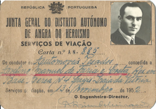 PORTUGAL: Serviços de Viação—Junta Geral do Distrito Autónomo de Angra do Heroismo