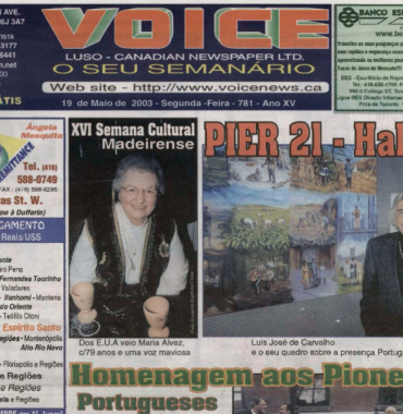VOICE OF PORTUGAL: 2003/05/19 Issue 781